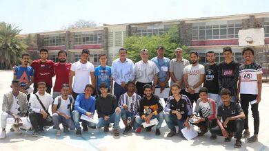 صورة لجنة حكام كرة القدم تجري امتحان المفاضلة للمتقدمين لدورة المستجدين