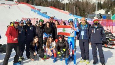 صورة انجاز كبير لبعثة التزلج  في بطولة العالم في إيطاليا