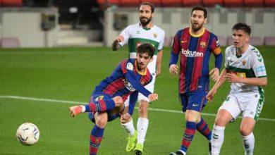 صورة فيديو: شاهد أهداف مباراة برشلونة وإلتشي في الدوري الإسباني 2020-21