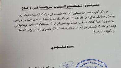 صورة مكتب الشباب والرياضة في عدن يرفض فوضوية اتحاد السلة العام