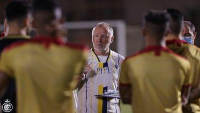 صورة كواليس اجتماع مينيز مع لاعبي النصر قبل لقاء فولاذ