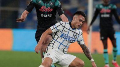 صورة الدوري الإيطالي: الانتر يعود بنقطة واحدة من ملعب نابولي