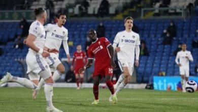 صورة الدوري الانكليزي: ليدز يفرض التعادل الايجابي على ليفربول ويحرمه من المركز الرابع