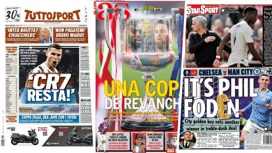 صورة ثأر برشلونة وصديق رونالدو يعلن مصيره .. عناوين الصحف 17 إبريل 2021
