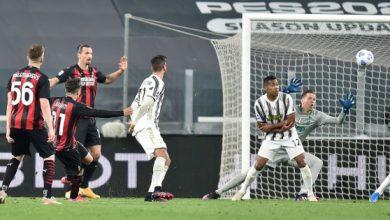 صورة إحصاءات من مباراة يوفنتوس – ميلان