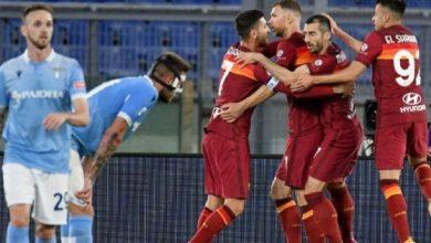 صورة ابرز مجريات مباراة روما ولاتسيو
