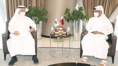 صورة رئيس الاتحاد يستقبل الأمين العام للهلال الأحمر القطري