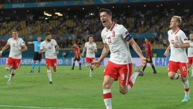 صورة اهم مجريات المباراة بين اسبانيا وبولندا