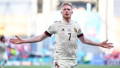 صورة شاهد فيديو اهداف مباراة بلجيكا والدنمارك في يورو 2020.. حضر دي بروين فحضرت المتعة