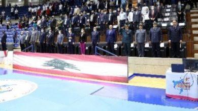 صورة افتتاح حاشد لبطولة آسيا في التايكواندو وبرونزية  لمارك خليفة في القتال الحر