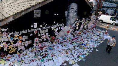 """صورة """"جدار أمل"""" افتراضي لدعم مهاجم منتخب إنجلترا راشفورد ضد العنصرية"""