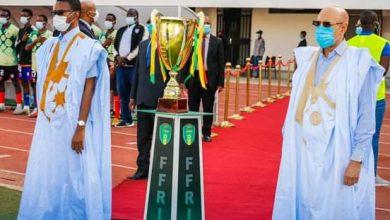صورة محمد مبارك يهدي الكونكورد لقبه الثاني في مسابقة كأس رئيس موريتانيا
