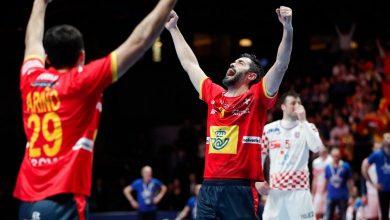صورة فوز مثير لإسبانيا على النرويج في كرة اليد