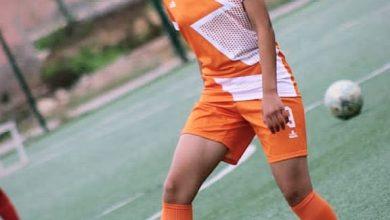 """صورة لاعبة كرة القدم المغربية هند آيت بهي"""" لكورة ناو"""" طموحي وحلمي هو المشاركة في المنتخب النسوي لكرة القدم """""""