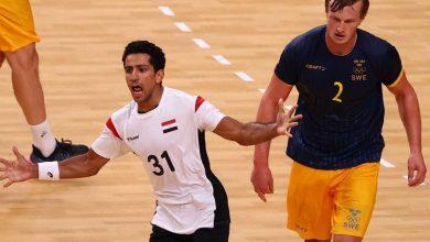 صورة يد مصر تلقن السويد درسا قاسيا وتصعد لدور الثمانية بأولمبياد طوكيو