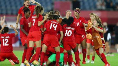 صورة تأهل كندا وأستراليا والسويد إلى المربع الذهبي لمنافسات كرة القدم للسيدات