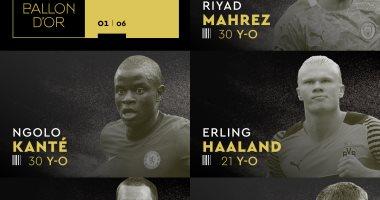صورة الكرة الذهبية.. هالاند ورياض محرز في قائمة أول 5 مرشحين