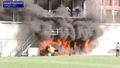 صورة مباراة أندورا ضد إنجلترا مهددة بالإلغاء بسبب حريق فى ملعب المباراة