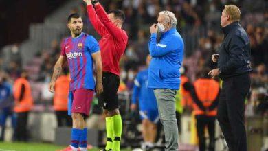 صورة إحصائية مُحبطة لنجم برشلونة أجويرو قبل الكلاسيكو  ضد ريال مدريد